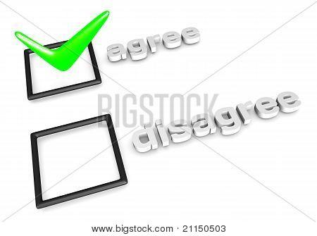 Agree/Disagree decision concept