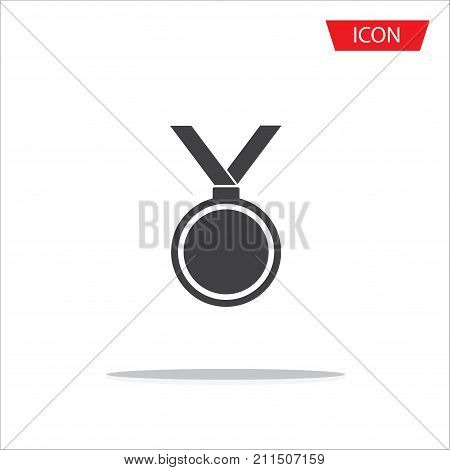 Medal icon vector, medal symbols ,medal logo isolated on white background.