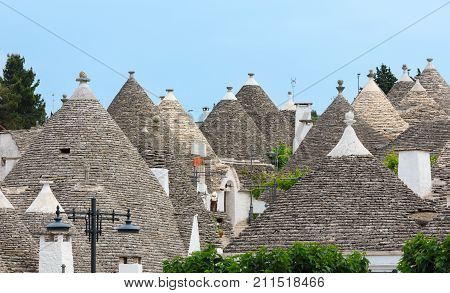 Trulli Houses Foofs In Alberobello, Italy