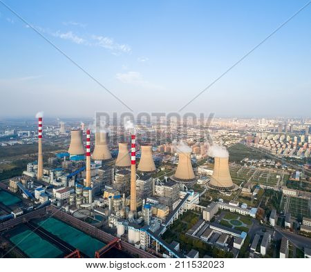 modern large thermal power plant dezhou city shandong provinceChina