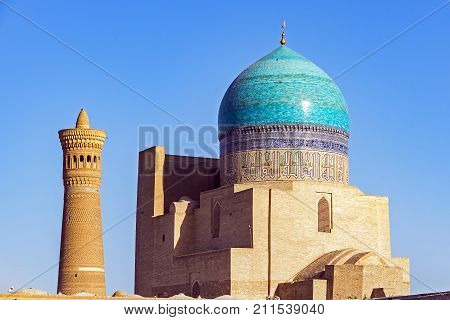 Kalyan mosque and minaret, located in the city of Bukhara, Uzbekistan. They are are part of the Po-i-Kalyan complex.