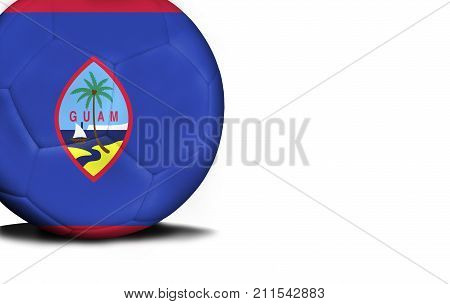 The flag of Guam was represented on the ball, the ball is isolated on a white background with space for your text.