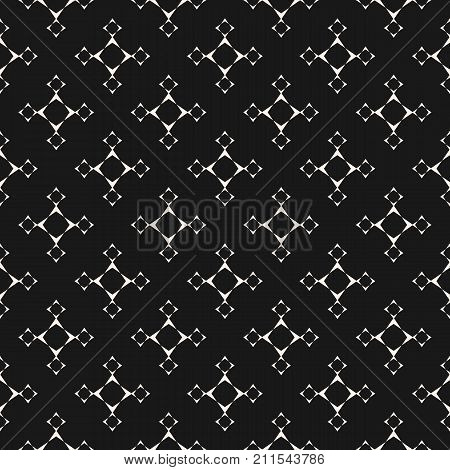 Vector Minimalist Geometric Background Abstract Seamless Pattern With Linear Star Shapes Square Figures