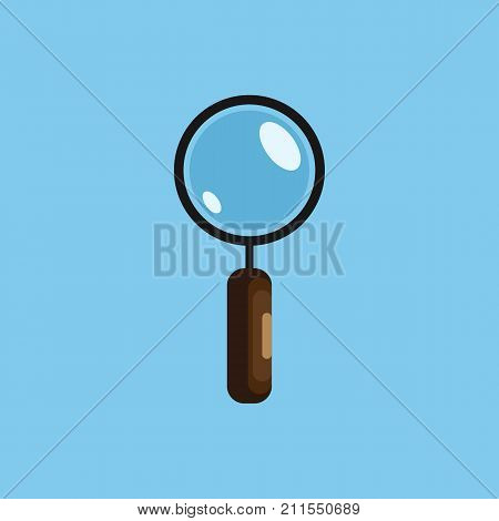 Magnifying glass vector illustration isolated on background. Search concept, magnifier icon in flat design.