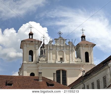 The Church of the Holy Spirit in Vilnius. In the years of 1753-1770 Dominicans built this church in a style of late baroque. poster