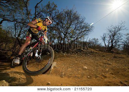 Team Mtn Qhubeka Rider Through Corner