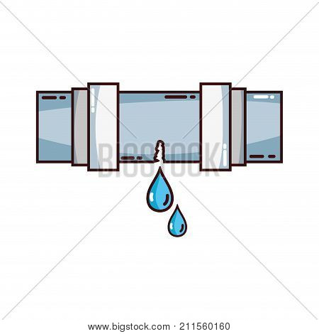 plumbing tube repair equipment construction vector illustration