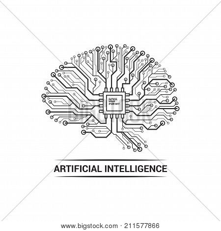 Brain Artificial Intelligence Logo