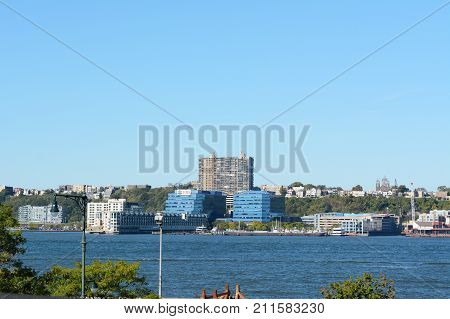 View Across The Hudson River To New Jersey