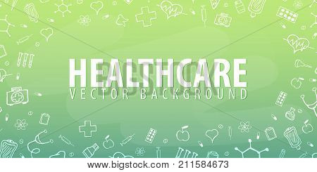 Medical Background. Medical Care. Health Care. Vector Medicine Illustration.