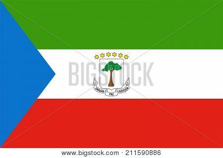 Official Vector Flag Of Equatorial Guinea