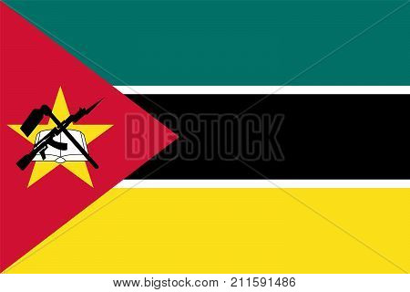 The Official vector flag of Mozambique .