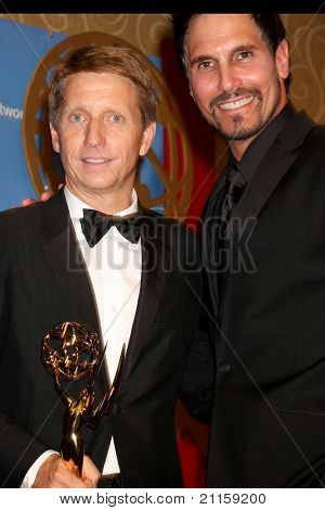 LAS VEGAS - JUN 19:  Brad Bell, Don Diamont in the Press Room of the  38th Daytime Emmy Awards at Hilton Hotel & Casino on June 19, 2010 in Las Vegas, NV.