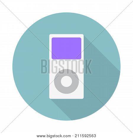 Portable Media Player Icon. Flat Design Style.