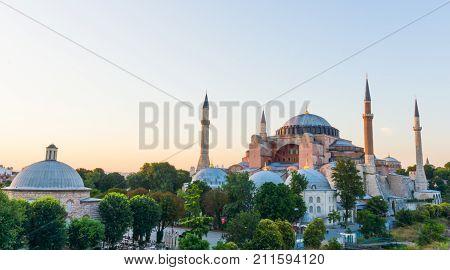 View of the Hagia Sophia in Istanbul, Turkey