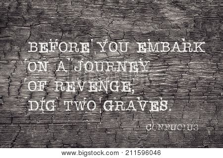 Revenge Journey Confucius