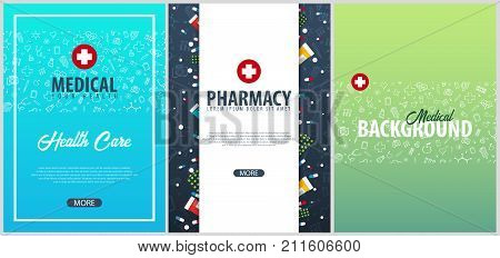 set medical posters vector photo free trial bigstock