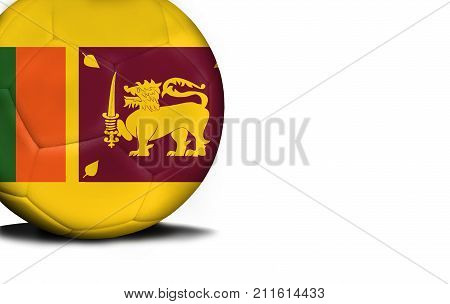 The flag of Sri Lanka was represented on the ball, the ball is isolated on a white background with space for your text.