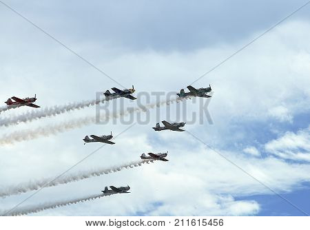 Broomfield, Colorado - August 23 2009: Rocky Mountain Airshow.