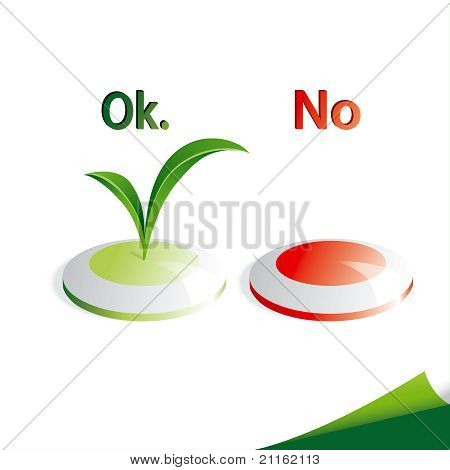 Ecology Buttons - Yes and No