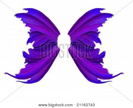 Purple Summer Fae Wings