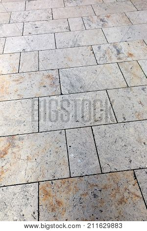 stone tile on the sidewalk vertical image