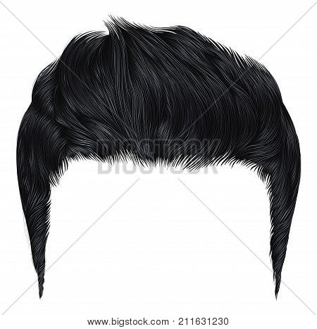 trendy stylish man hairs blacktrendy stylish man hairs black colour. colour.