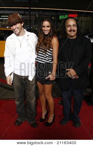 LOS ANGELES - APR 10: Clifton Collins Jr, guest, Ron Jeremy at the Jackass 3D premiere held at Grauman's Chinese Theater in Los Angeles, California on April 10, 2010