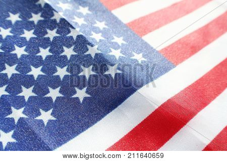 American Flag Close Up High Quality Stock Photo