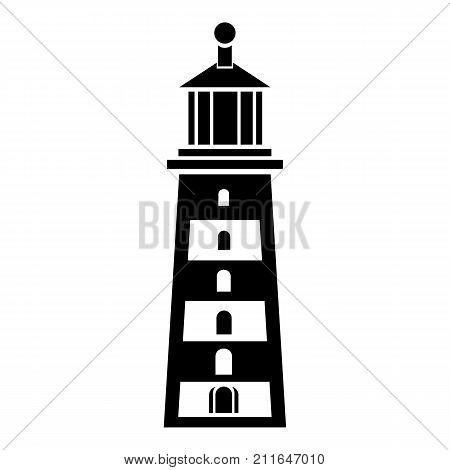 Seaside lighthouse icon. Simple illustration of seaside lighthouse vector icon for web