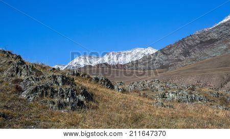 Tract Kalbak-Tash in Altai mountains, Russia.