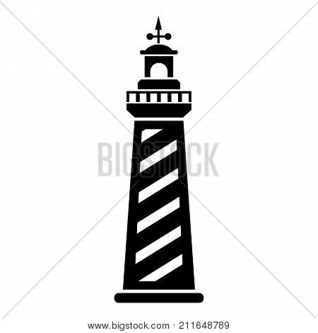 Signal tower icon. Simple illustration of signal tower vector icon for web
