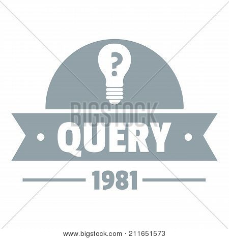 Query logo. Simple illustration of query vector logo for web