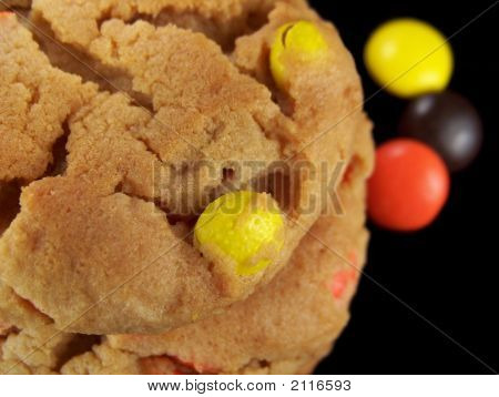 Close Up Of Candy Cookies