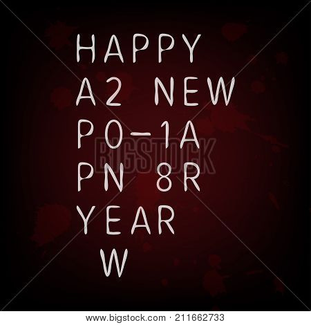 Secret Code Happy New Year 2018 Card