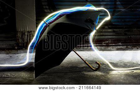 Umbrella with long exposure technique