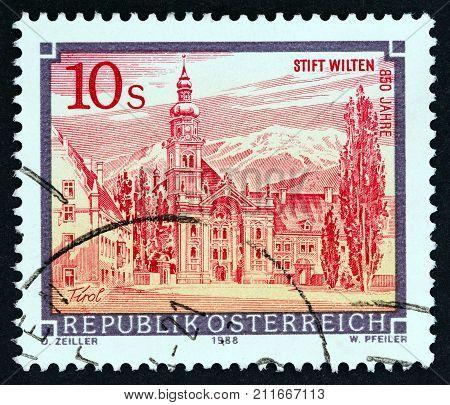 AUSTRIA - CIRCA 1988: A stamp printed in Austria from the