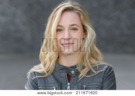 Happy Attractive Young Blond Woman
