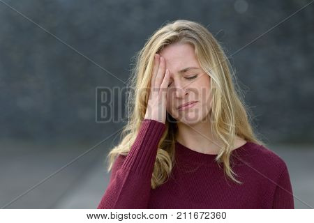 Upset Young Woman About To Start Crying