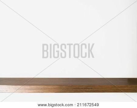 Wood Shelf Table on white background. fill object