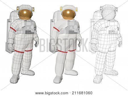 Astronaut Standing And Looking At The Camera