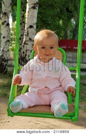 Baby At Swing