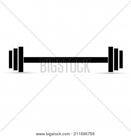 Weight lifting barbell on a white background