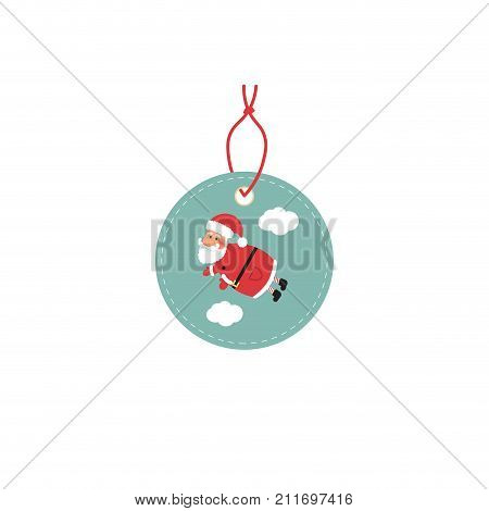 Retail Sale Tags and Clearance Tags. Festive christmas design with Santa Claus