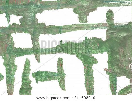Hand-drawn abstract watercolor. Used colors: White Camouflage green Russian green Artichoke Dark sea green Axolotl Laurel green Oxley Asparagus Dolphin Gray