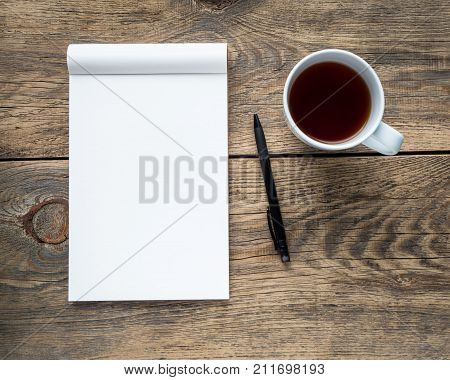 Open Notepad With A Clean White Page