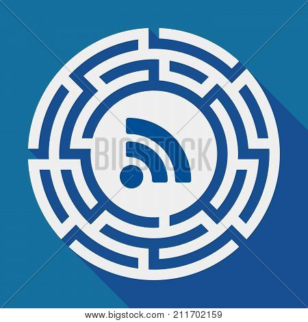 Long Shadow Labyrinth With An Rss Sign