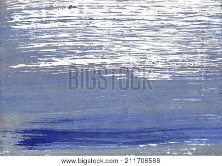 Hand-drawn abstract watercolor. Used colors: Shadow blue White Light slate gray Cool grey Rhythm Slate gray Glaucous Roman silver Manatee Dark blue-gray