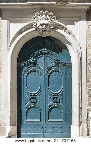 Jesi (Ancona Marches Italy): door of historic palace