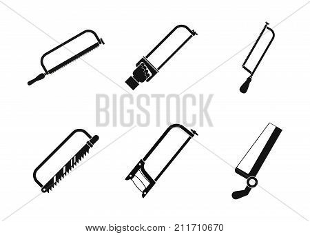 Hacksaw icon set. Simple set of hacksaw vector icons for web design isolated on white background